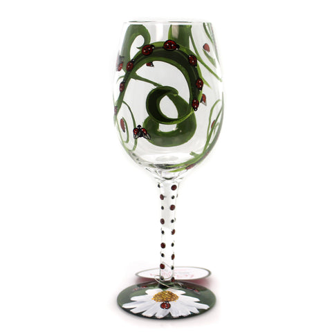 Tabletop LADYBUG LOLITA WINE GLASS Glass Hand Painted 6001626 36313