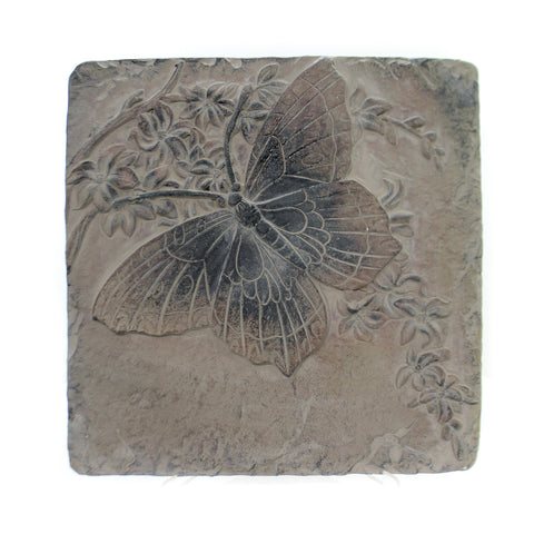 Home & Garden INSECT TILES Stone Hanging Decor Spring Ro1302 Butterfly 36354