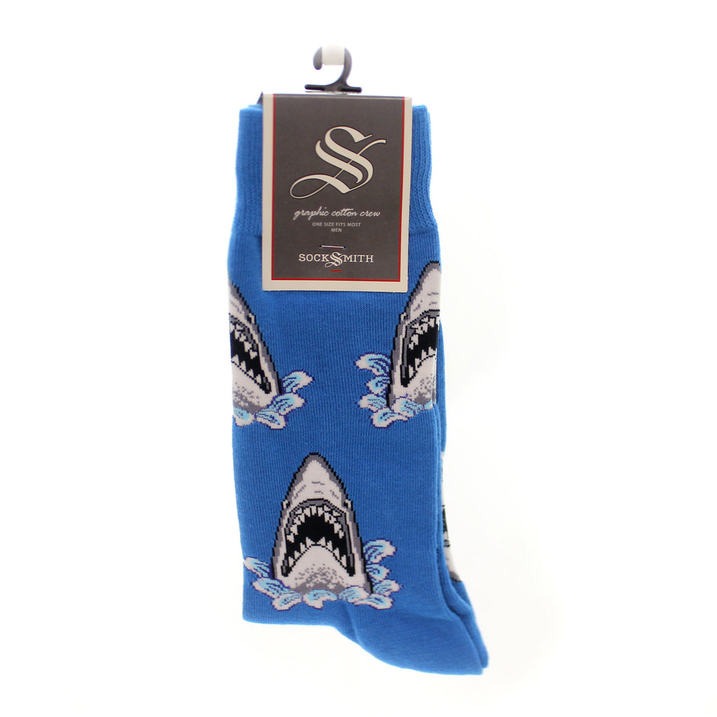 Novelty Socks Shark Attack Blue Novelty Socks