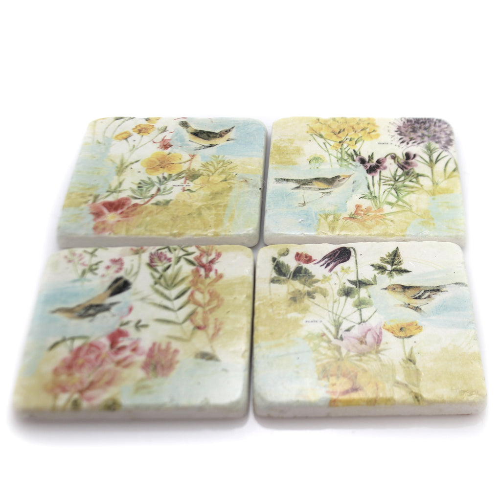 Home & Garden Birds In The Garden Coaster Set Home Decor