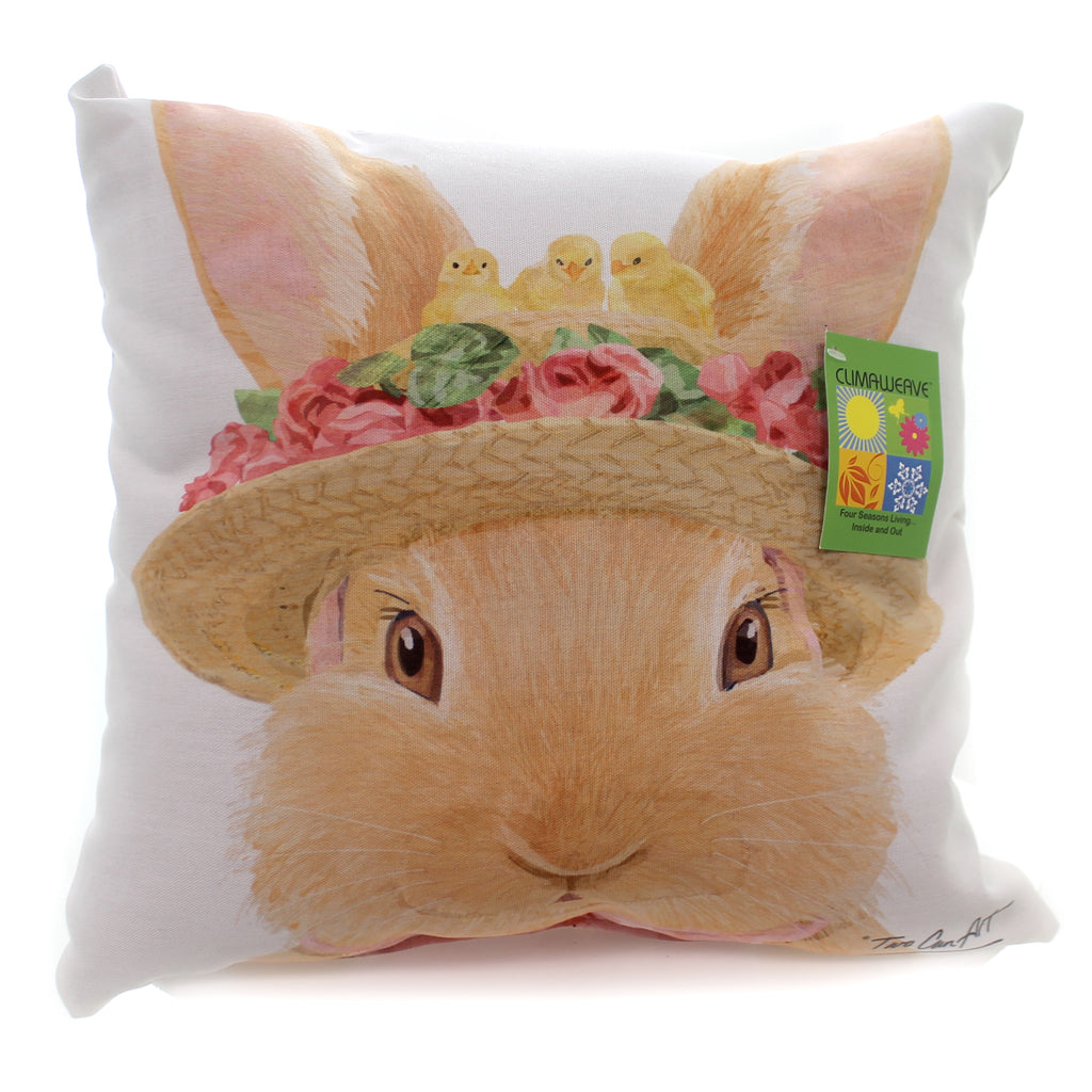 Home & Garden Bunny Garden Pillow Accent Pillow