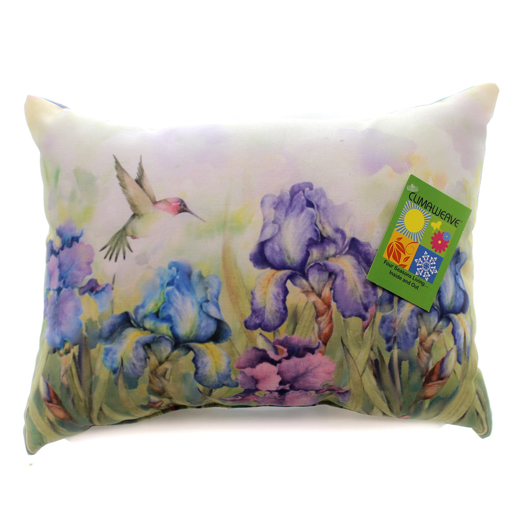 Home & Garden Natures Grace Irises Blueflower Accent Pillow