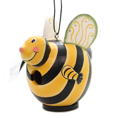 Home & Garden BUMBLEBEE GORD-O BIRDHOUSE Albesia Wood Hand Painted Se3880096 36434
