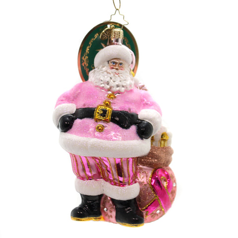 Christopher Radko Pretty In Pink Glass Ornament 36456