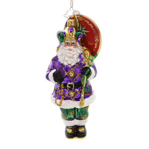 Christopher Radko The King Of New Orleans Glass Ornament 36459