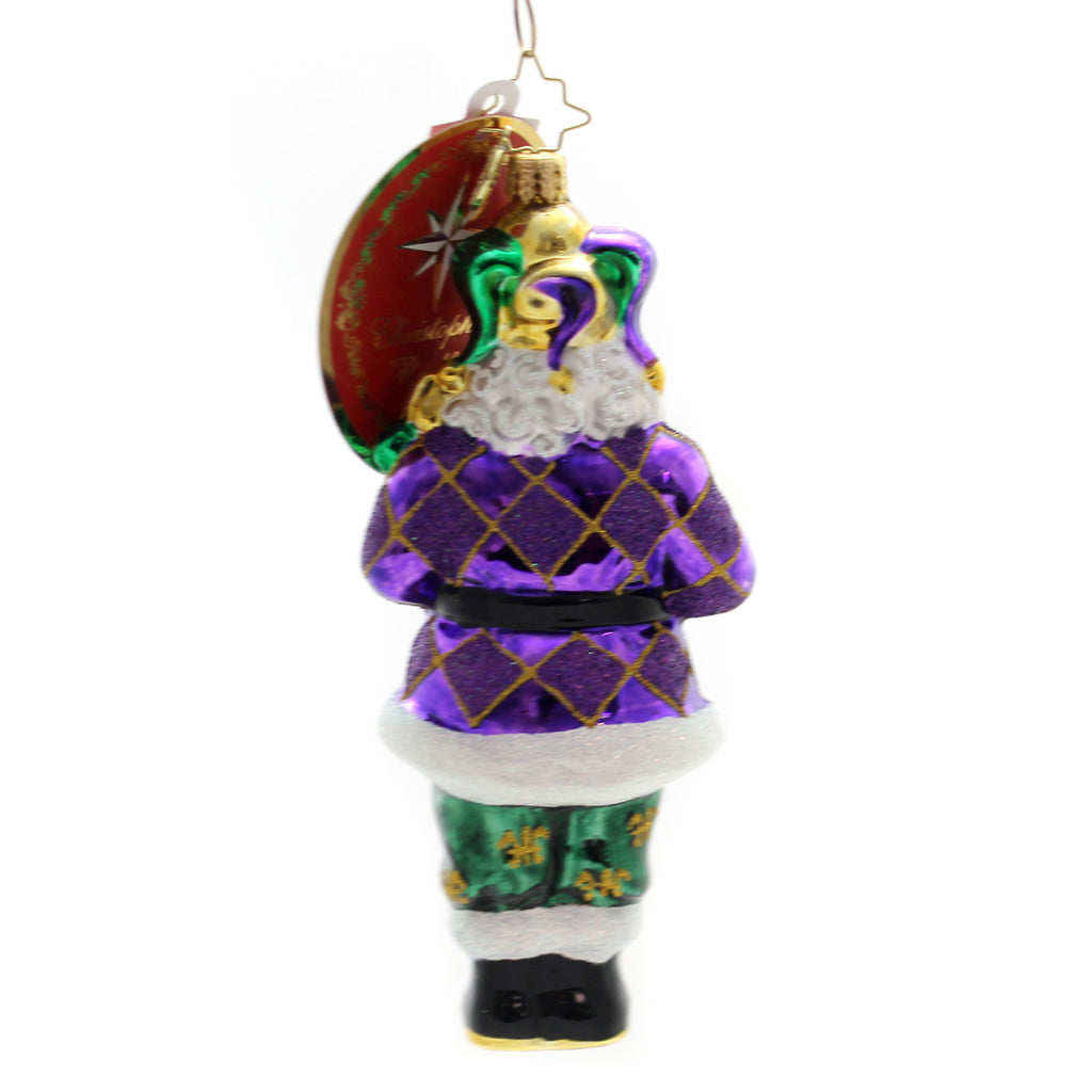 Christopher Radko The King Of New Orleans Glass Ornament