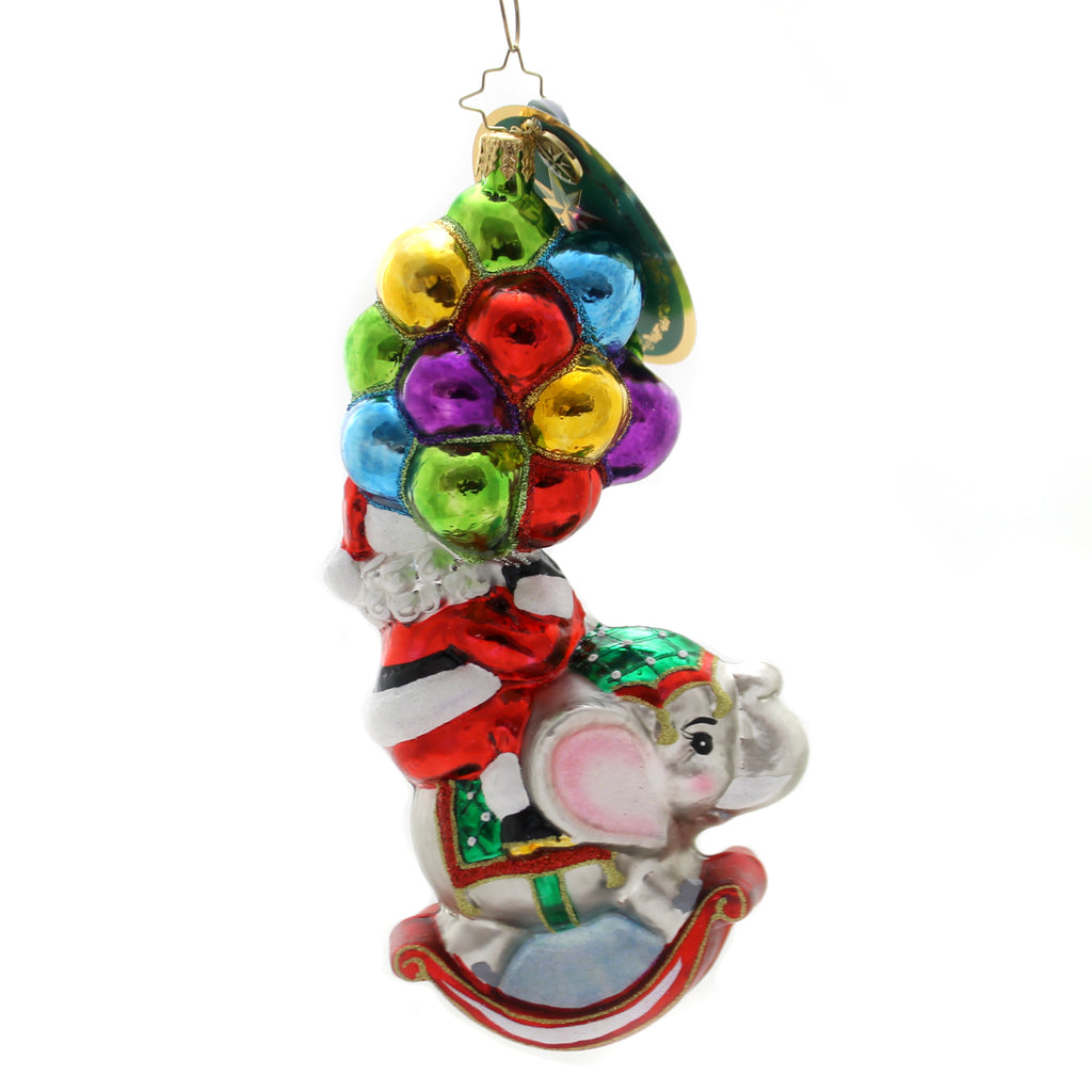 Christopher Radko Just Hang In There Glass Ornament