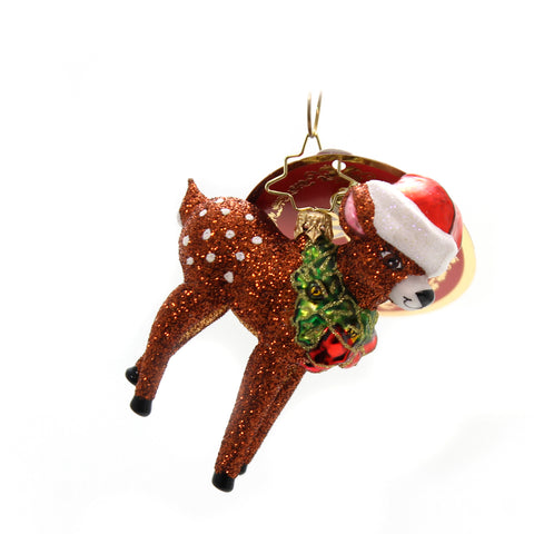 Christopher Radko Oh, Deer Me! Little Gem Glass Ornament 36463