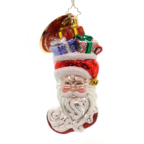 Christopher Radko Stuffed Santa Glass Ornament 36468