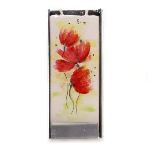 Home Decor Red Poppies Candle Decorative Candle 36475