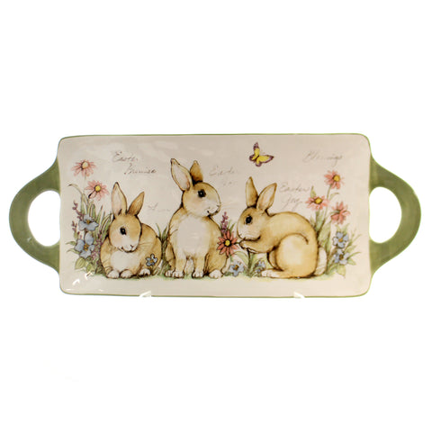 Tabletop Bunny Patch Rectangle Tray Easter & Spring Tabletop 36479