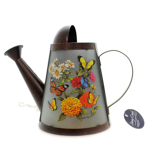 Stony Creek BUTTERFLY LIGHTED WATERING CAN Metal Flowers Summer Scb8206 36530
