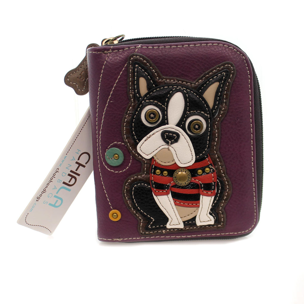 Handbags Boston Terrier Zip Wallet Handbag / Tote