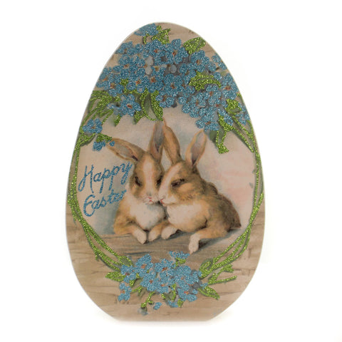 Easter HAPPY EASTER CHUNKY SITTER Wood Bunnies Egg Flowers 38396 36639