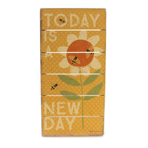 Home & Garden NEW DAY SLAT BOX SIGN Wood Bees Flowers Summer` 35311 36642