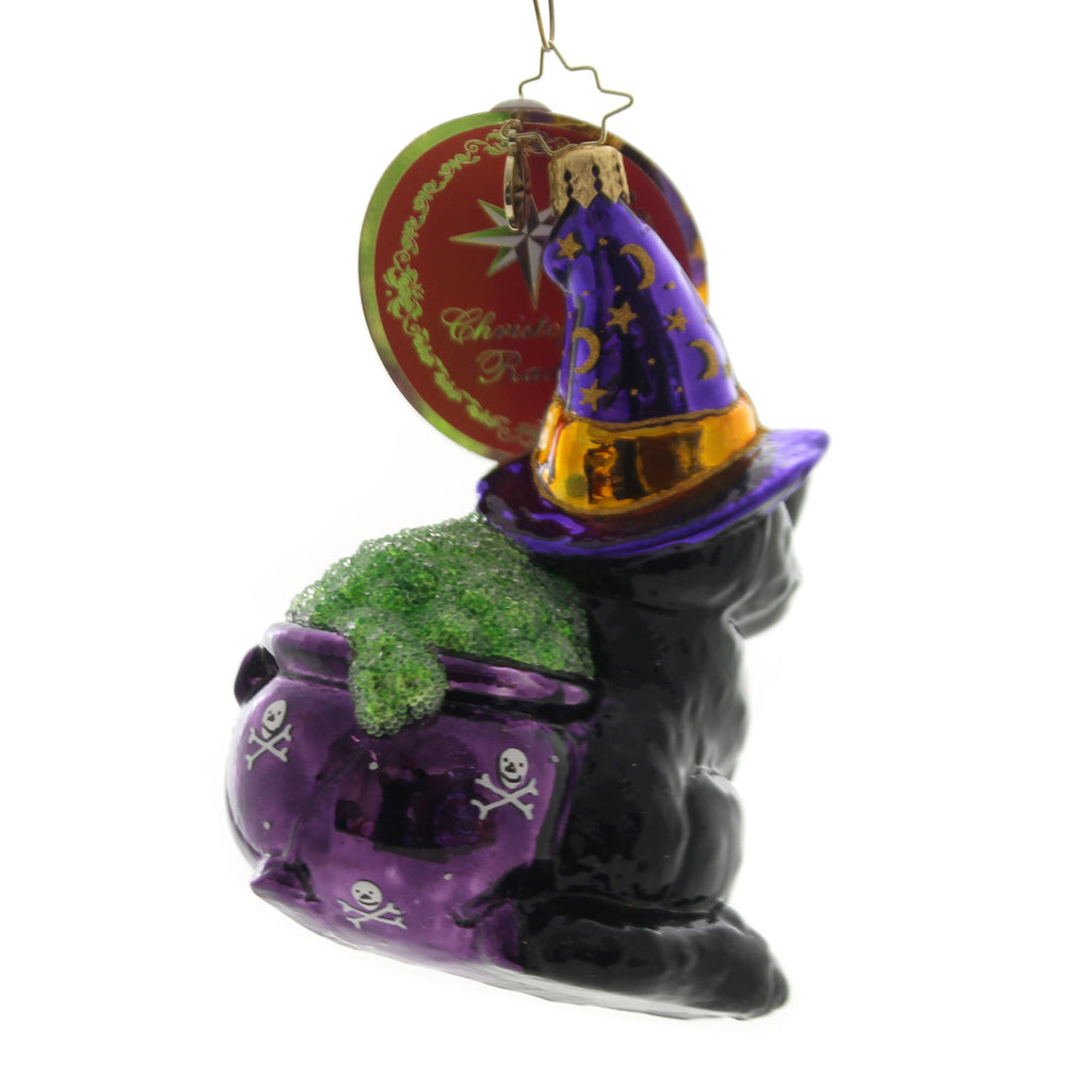 Christopher Radko Catty Cauldron Glass Ornament