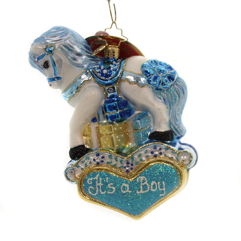 Christopher Radko Pastel Price Pony Glass Ornament 36650