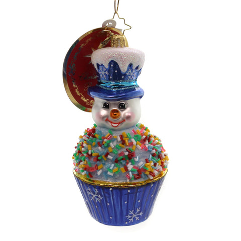 Christopher Radko Tasty Snowman Treat Glass Ornament 36659