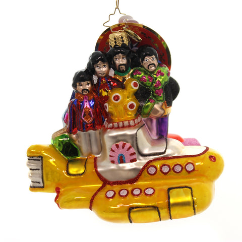 Christopher Radko ALL TOGETHER NOW! Glass Beatles Yellow Submarine 1019344 36663
