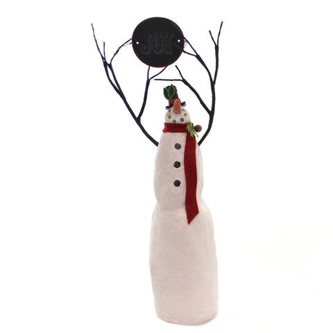 Karen & Mary Hammerschmidt JOY SNOWMAN Polyresin Christmas Winter 61125 36690