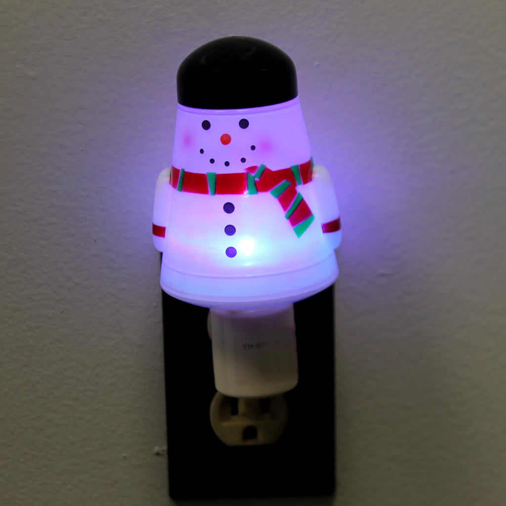 Christmas SNOWMAN ACRYLIC NIGHTLIGHT Acrylic Light Color Change 156695