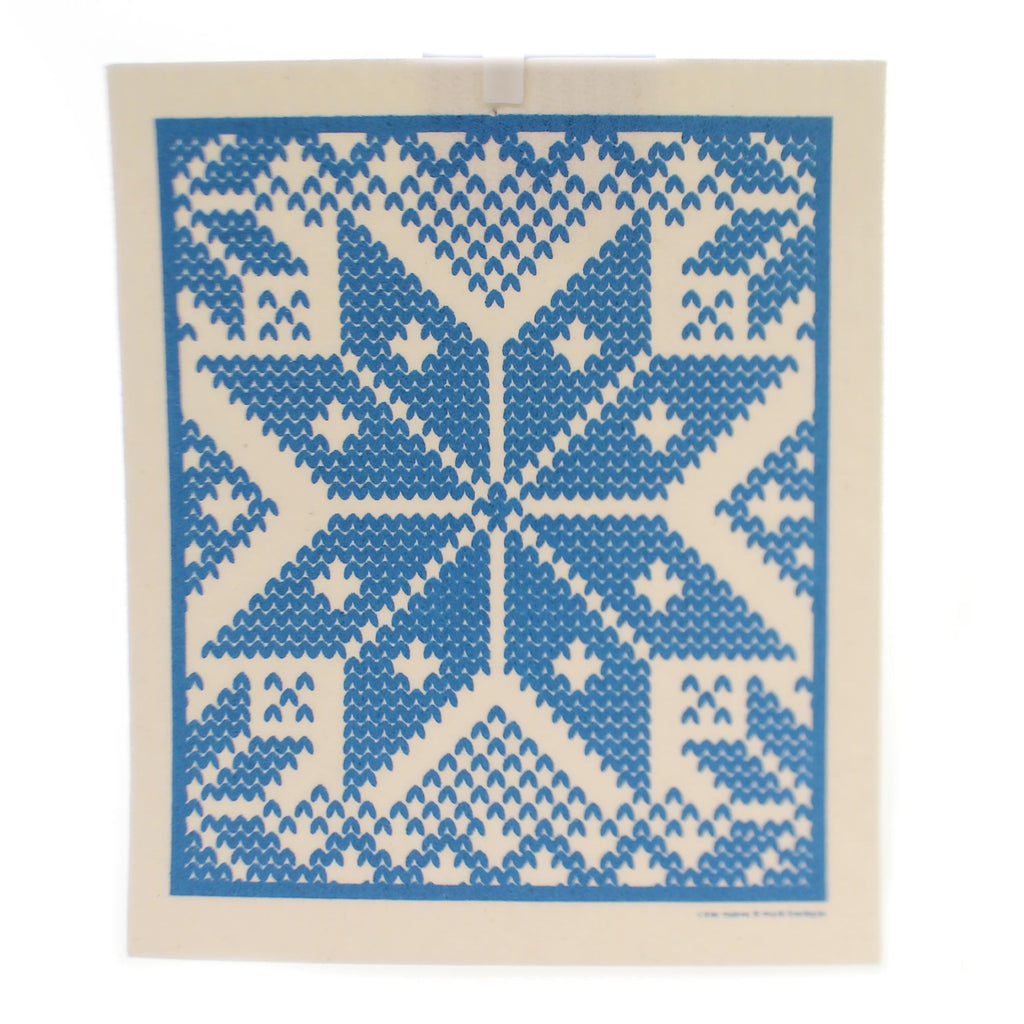 Swedish Dish Cloth SELBU - BLUE Fabric Absorbent 201B