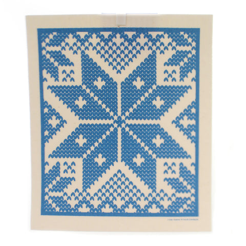 Swedish Dish Cloth SELBU - BLUE Fabric Absorbent 201B 36717