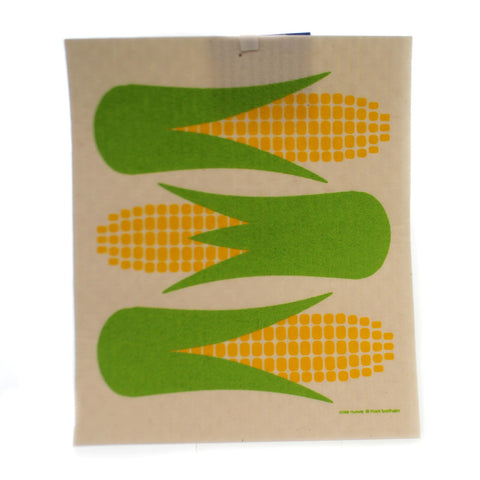 Swedish Dish Cloth CORN ON THE COB Fabric Absorbent 21965 36725