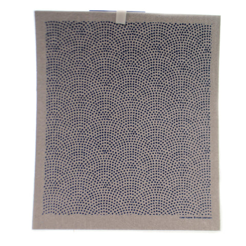 Swedish Dish Cloth CIRCLE DOTS BLUE Fabric Absorbent 31967B 36729