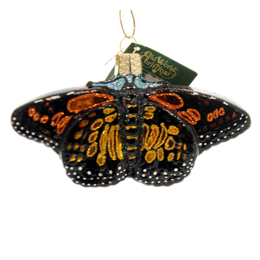 Old World Christmas MONARCH BUTTERFLY Glass Ornament North America 12475