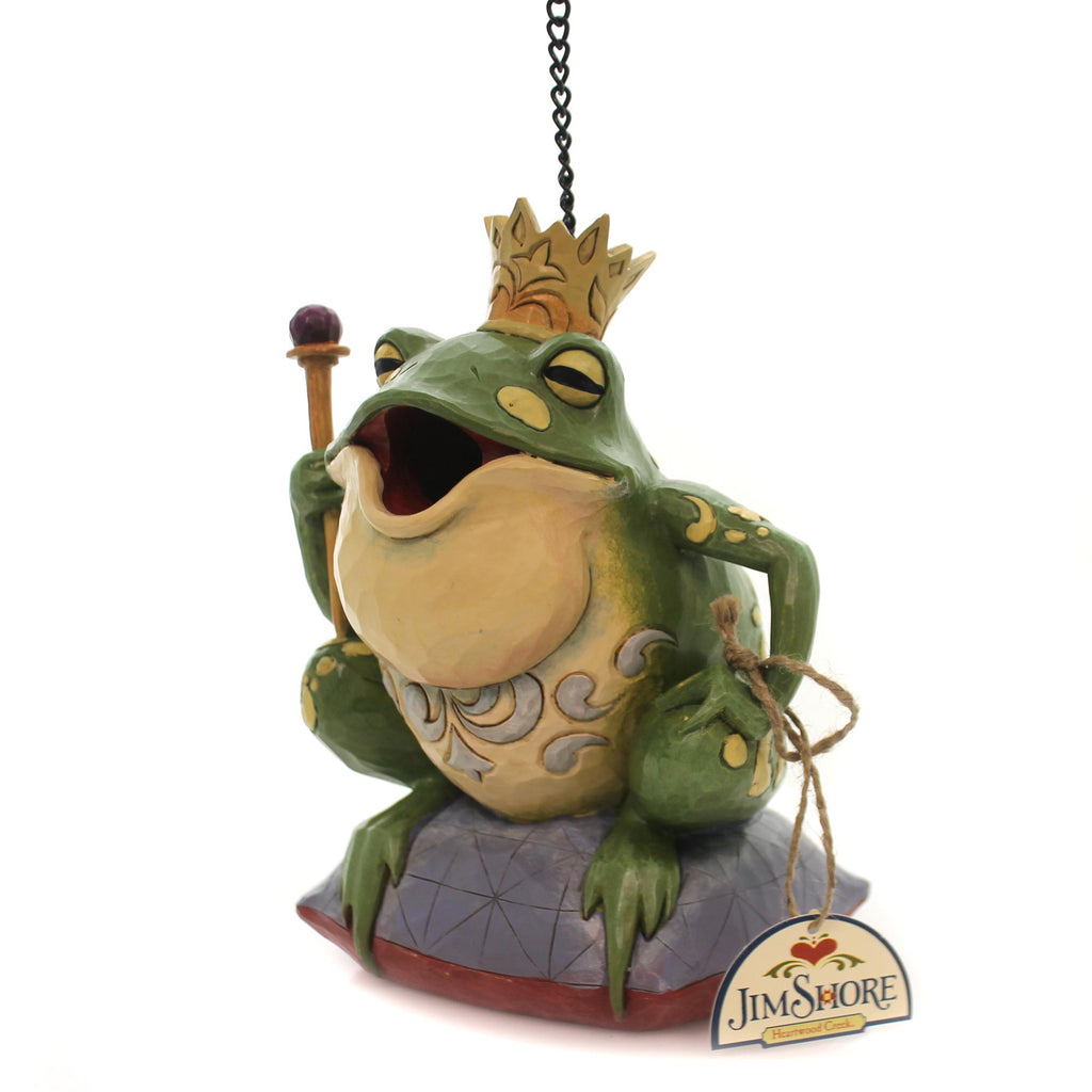 Jim Shore FROG PRINCE BIRDHOUSE Polyresin Clean Out Heartwood Creek 6001444