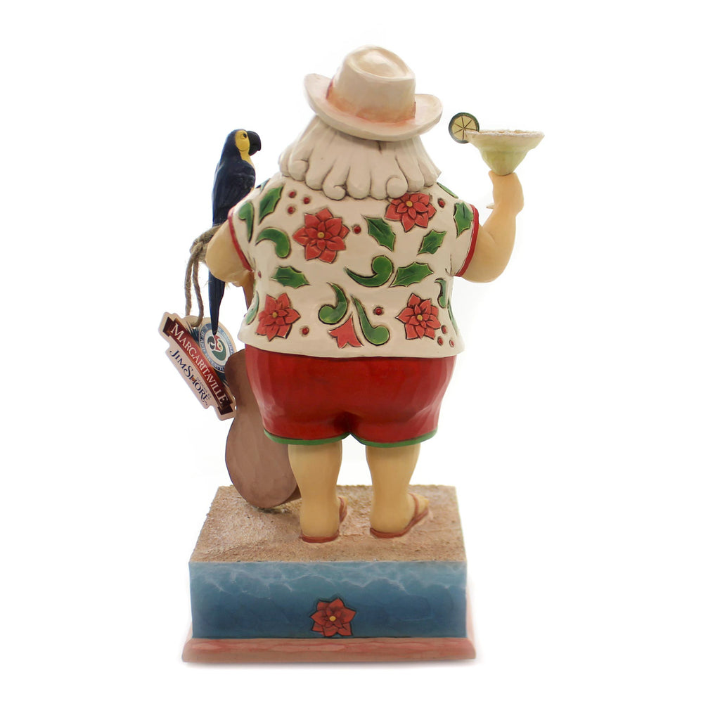 Jim Shore STRUMMIN' WITH SANTA Polyresin Margaritaville 6001535