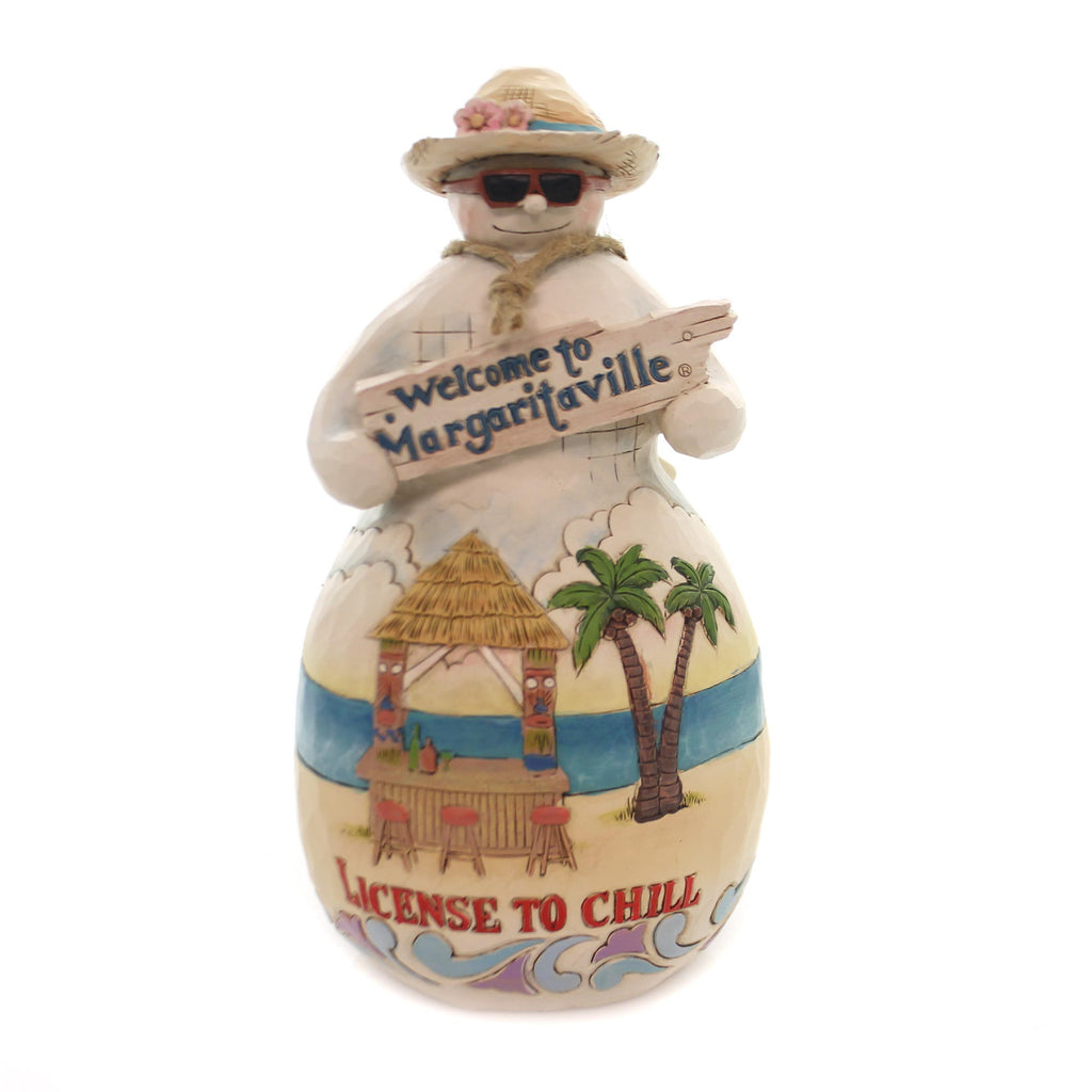 Jim Shore LICENSE TO CHILL Polyresin Margaritaville Tiki 6001537