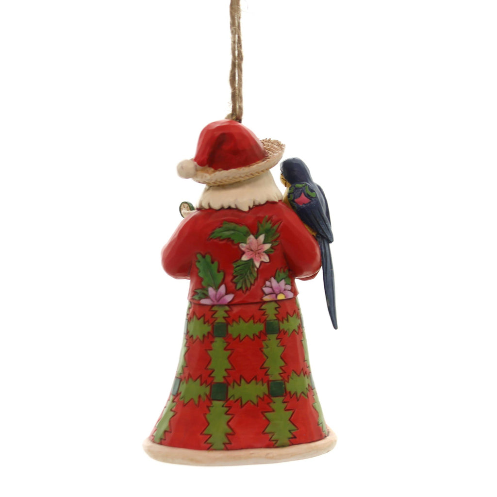 Jim Shore SANTA WITH PARROT ORNAMENT Polyresin Margaritaville 6001539