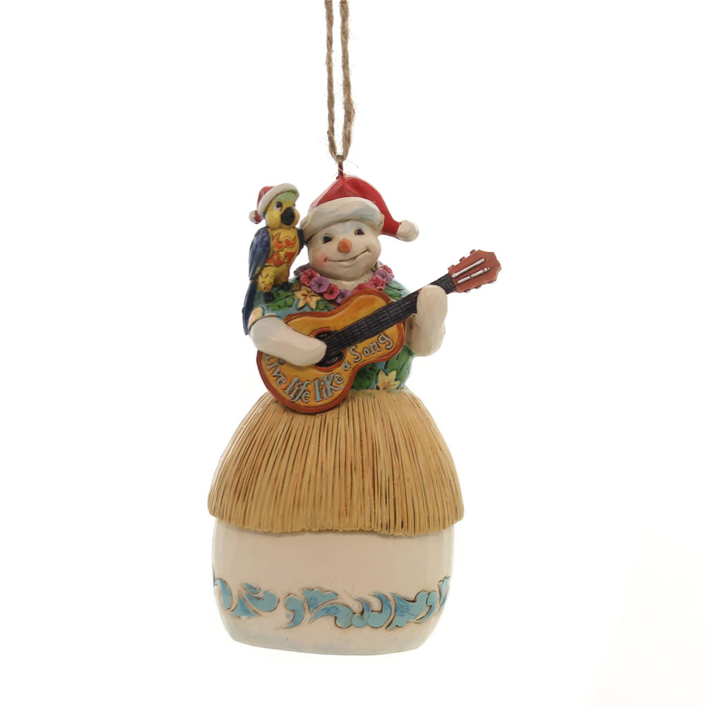 Jim Shore SNOWMAN WITH GUITAR ORNAMENT Polyresin Margaritaville 6001540