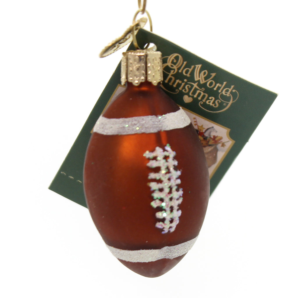Old World Christmas MINIATURE SPORT BALLS Glass Ornament 44023 Football