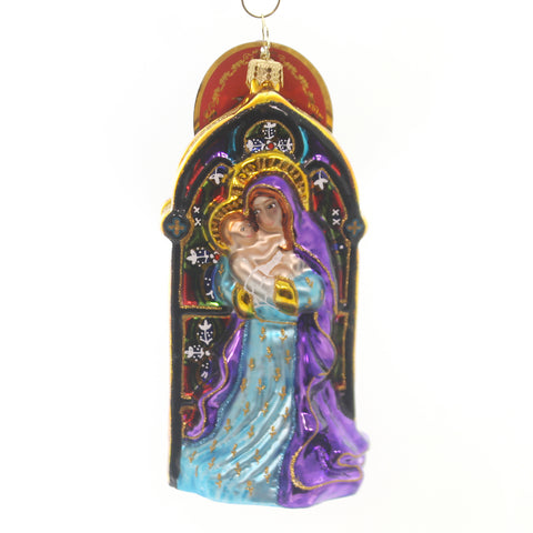 Christopher Radko HOLY EMBRACE Glass Mary Baby Jesus 1019504 36925