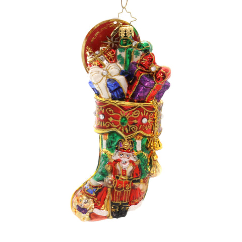 Christopher Radko ROYAL STOCKING STUFFER Glass Nutcracker Gifts 1019385 36956