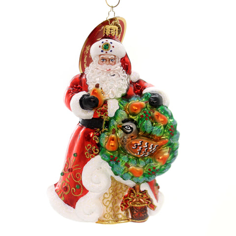 Christopher Radko THE PERFECT PEAR Glass Partridge Tree Santa 1019383 36958