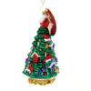 Christopher Radko FIR TREE FLOCK Glass Birdhouses Cardinal 1019140