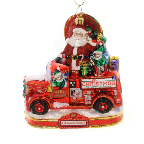 Christopher Radko FESTIVE FIRE TRUCK FUN Ornament Christmas Remember 1019595 36980