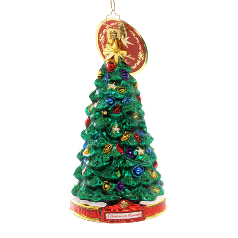 Christopher Radko PERFECT PINE Glass Ornament Christma Remember 1019594 36981