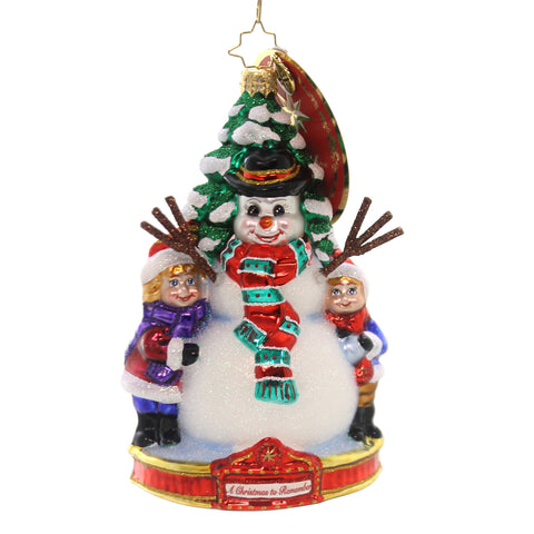 Christopher Radko FROSTY FUN Glass Ornament Christmas Remember 1019587 36988