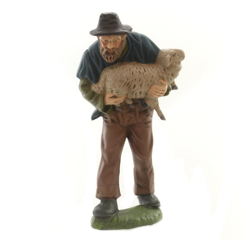 Marolin SHEPHERD CARRYING SHEEP Paper Mache Nativity Christmas Germany 51660 36997