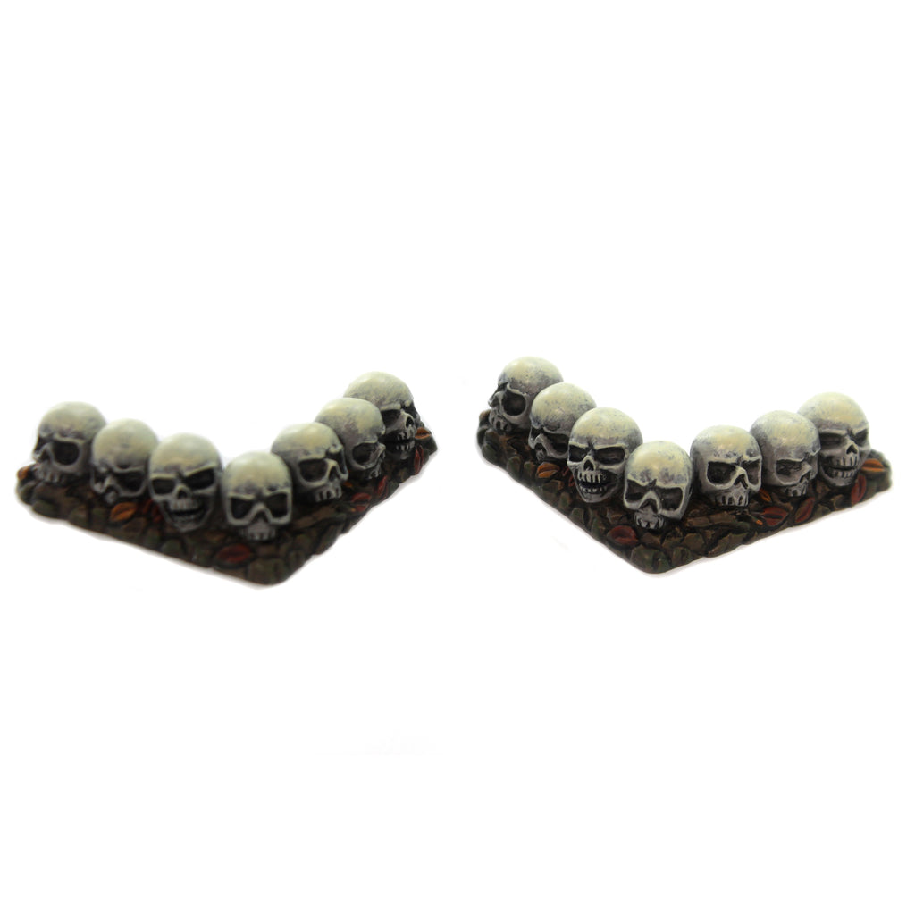 Department 56 Accessory ROW OF SKULLS CURVED Halloween Hedge Corner 6001747