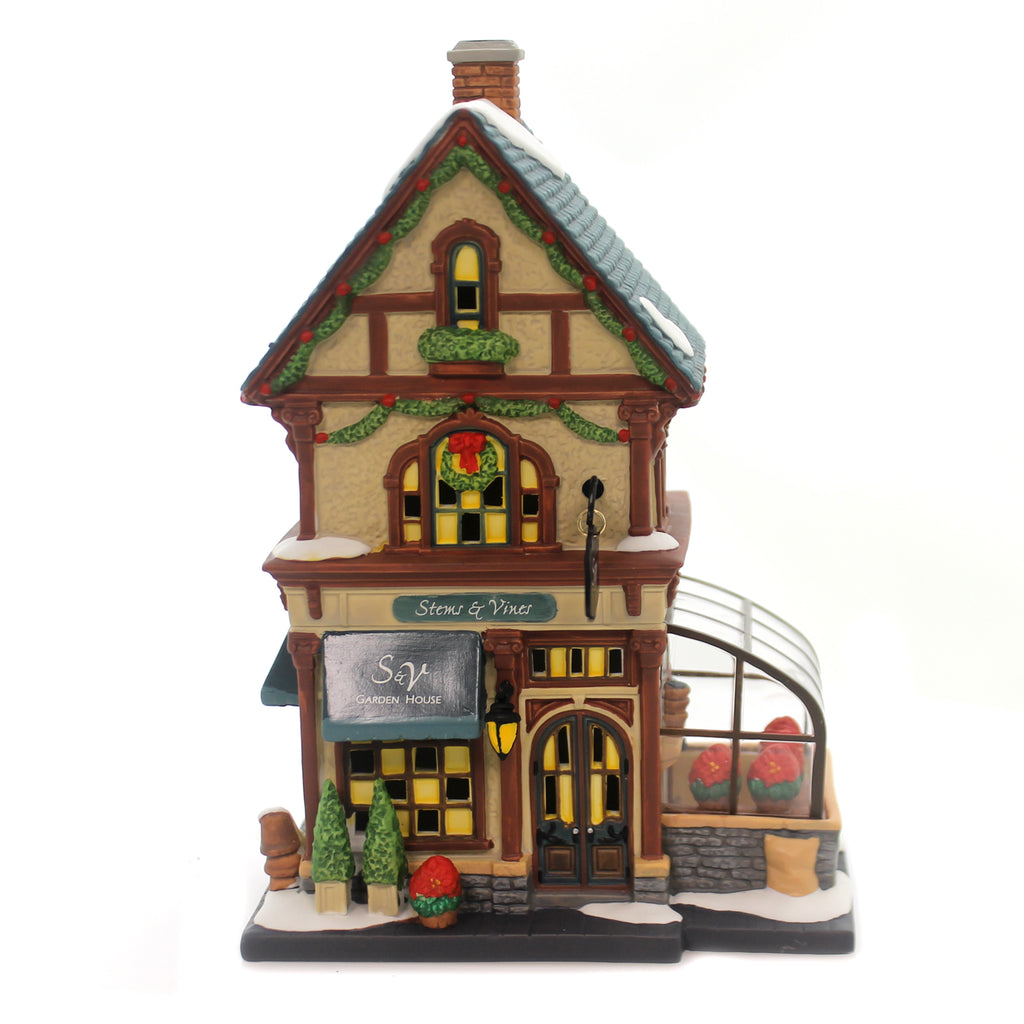 Department 56 House STEMS & VINES GARDEN HOUSE Christmas In The City 6000572