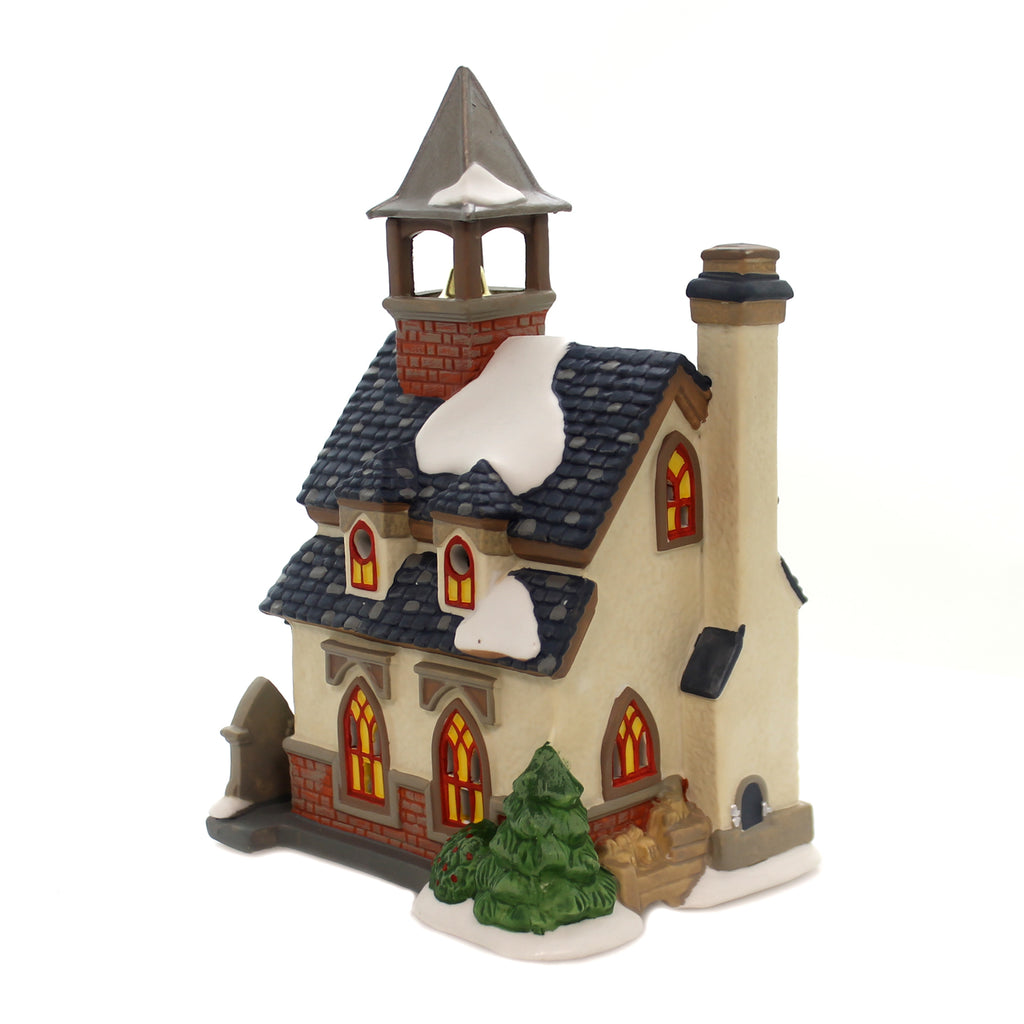 Department 56 House WALTON GREEN CHURCH Porcelain New England Village 6000607