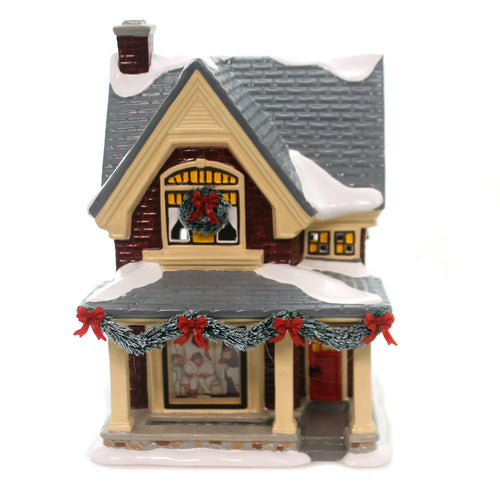Department 56 House ROCKWELL'S CHRISTMAS EVE Saturday Evening Post 6000636