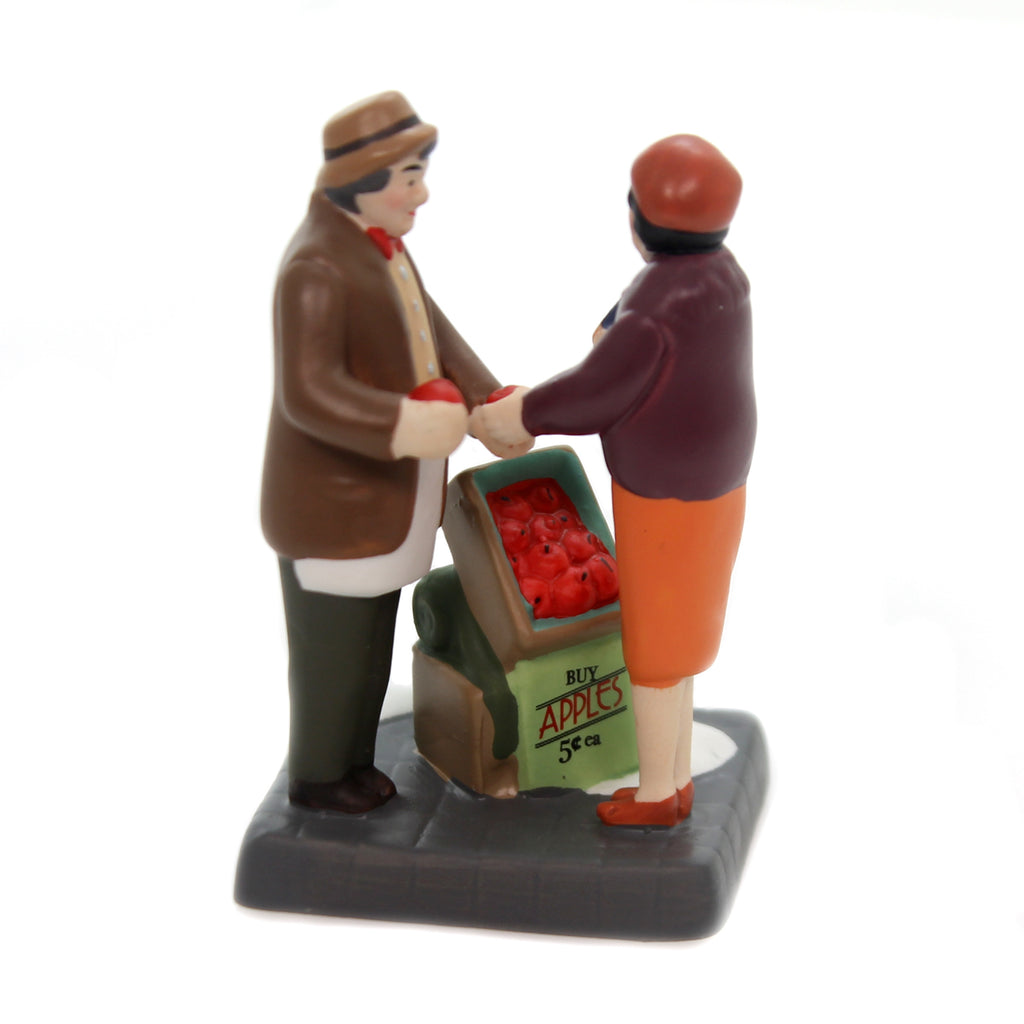 Department 56 Accessory CITY APPLE VENDOR Christmas In The City 6000575