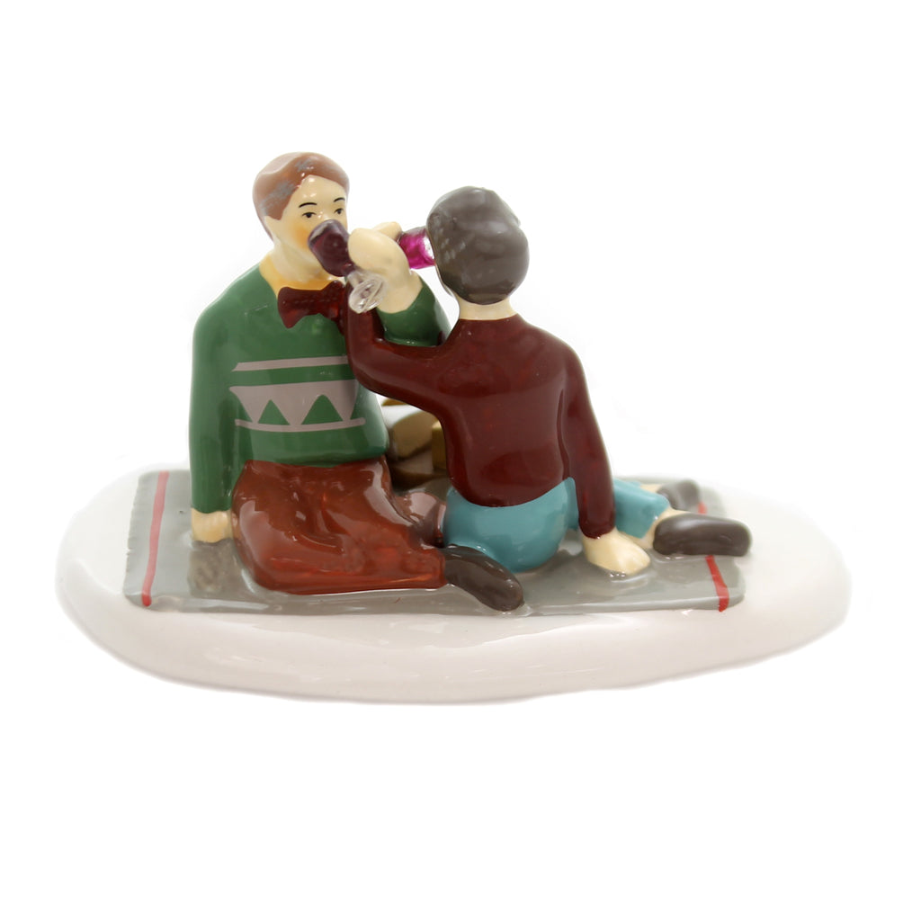 Department 56 Accessory GREAT WINE, GREAT COMPANY Ceramic Snow Village 6000647